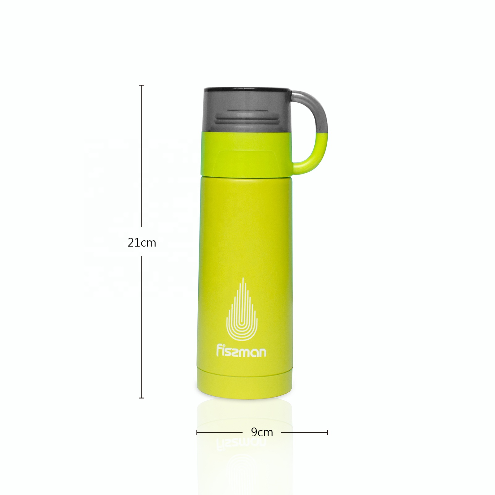 Fissman Fashion thermos 350ml stainless steel vacuum flask water bottle