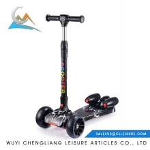 62*29*65-85cm 1pcs/color box,4pcs/ctn Hot selling three wheel kids scooter with pu wheel