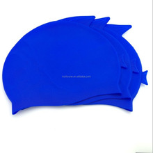 high quality eco friendly promotional cheap Novelty Printing Adult & kid Silicone Swimming Caps