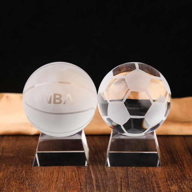 Top Grade Crystal Ball with Various Type for Sports Gift and Souvenir