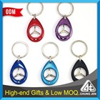 Wholesale various colors shopping trolley token holder cart coin keyring
