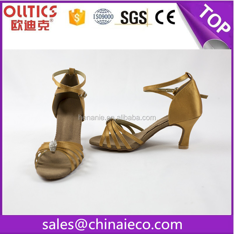 Hot selling latest women dancing sandalss latin high heel dance shoes