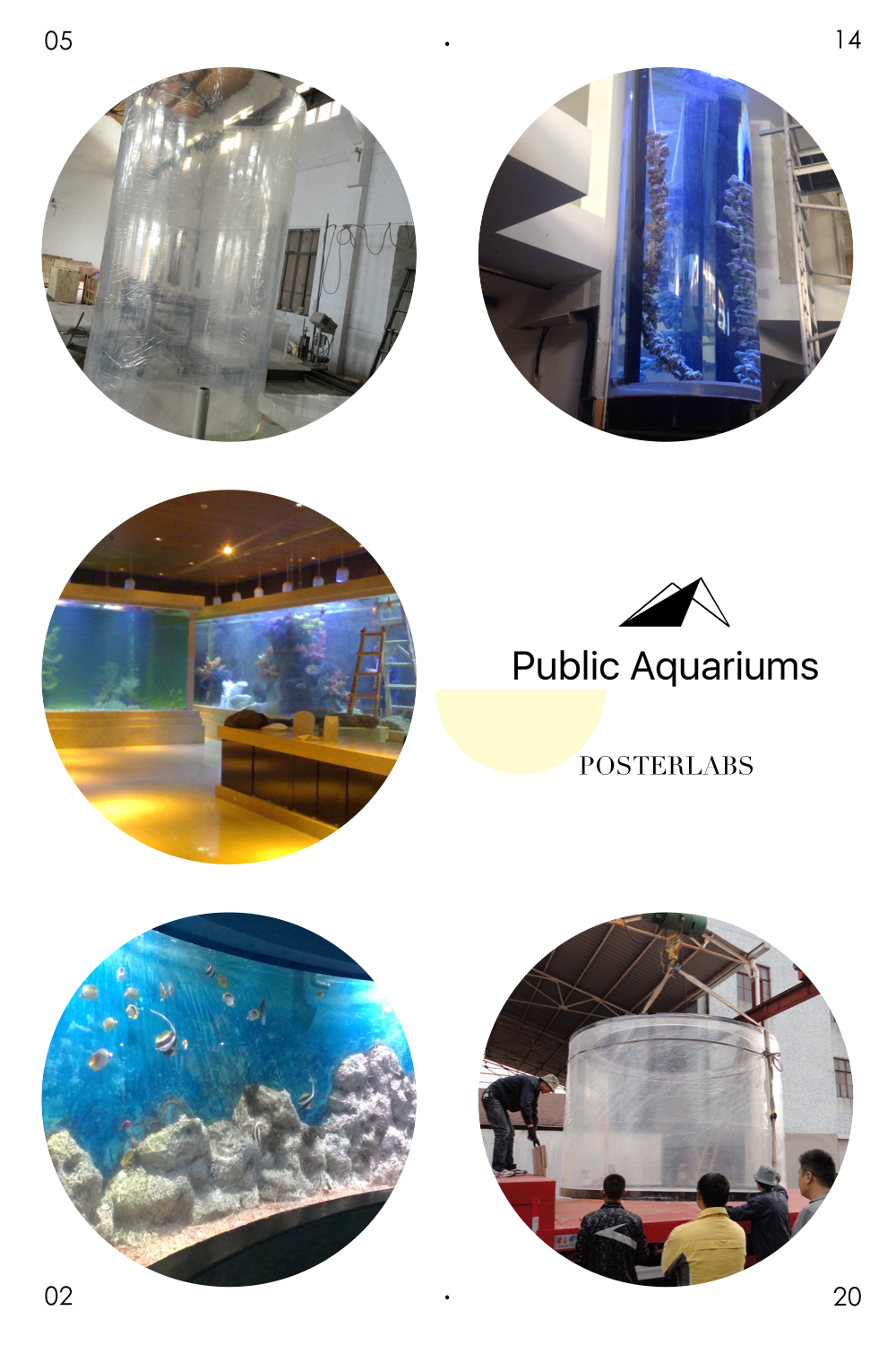 Transparent lucite acrylic panel for swimming pool