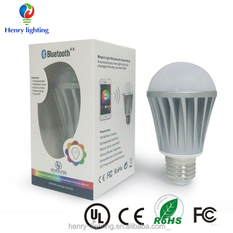 MagicLight Bluetooth Smart LED Light Bulb - Smartphone Controlled Sunrise Wake Up Lights - Dimmable Multicolored Color Changing