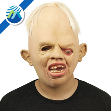 Novelty Latex Rubber Creepy Scary Ugly Baby Head Mask Halloween Party Costume Decorations