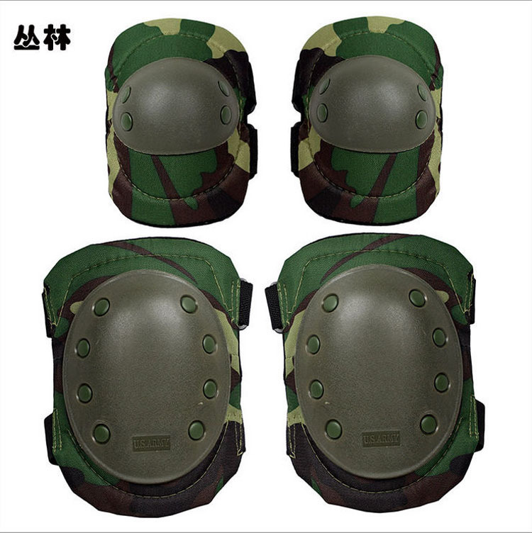 wholesale CS game tool running roller skating knee and elbow Military/Police Knee Elbow Pads , Sports Knee Elbow Palm Support