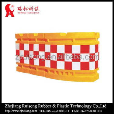 Rotational road crash barrier, plastic crash barrier, road block barriers