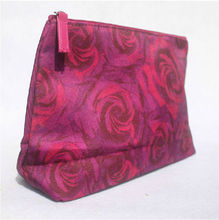 Rose Floral Large Makeup Pouch Promotional Storage Bag Zip Cosmetic Bag Women