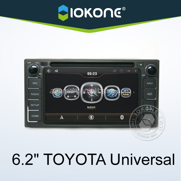 Car Radio 6inch universal car dvd player with GPS for TOYOTA many cars