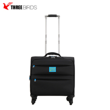 Airport 15'' sky travel spinner president vip trolley luggage mini suitcases