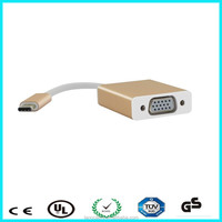 High quality USB 3.1 type c to vga TV display monitor adapter