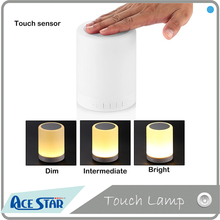Dimmable touch sensor cordless led table lamp speaker portable bluetooth speaker with TF card and alarm clock