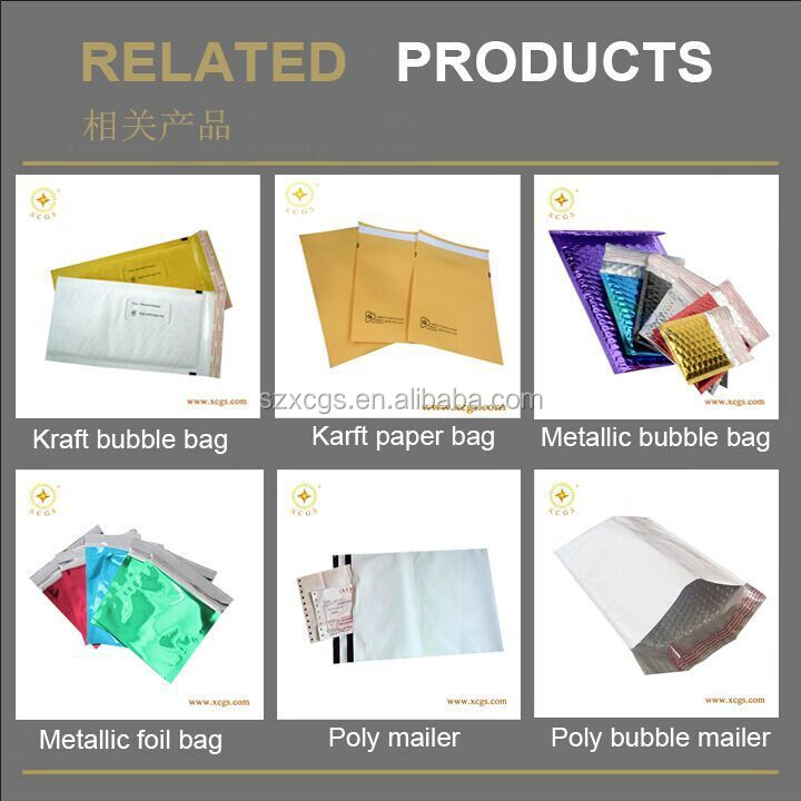 Matte Black Metallic Bubble Mailers Shock Proof Cosmetic Padded Envelope