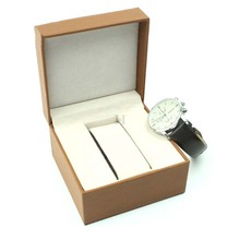 Simple Square Brown Paper Sponge Watch Gift Box