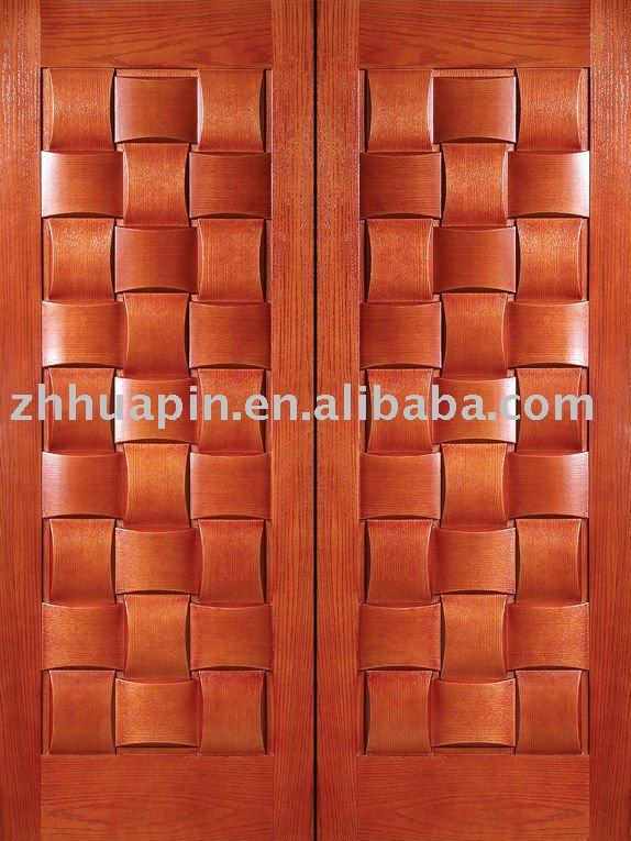 Luxe externe porte en bois porte en bois massif luxe for Double porte bois