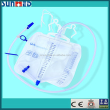 Sterile disposable urine meter with anti-reflux drip chamber