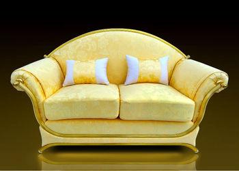 Royal golden aluminium frame furniture sofa luxury classic for Classic sofa malaysia