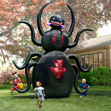 Brand new Customized Inflatable Lifelike spider cartoon for business promotion