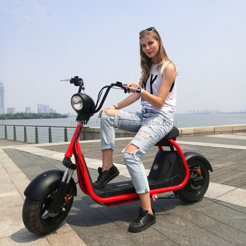 2017 NEW 2 wheel scrooser citycoco 80km range for adults Eco-friendly EEC electric motorcycle made in china