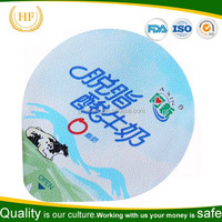 PP/PS/PE Lacquer aluminium foil lids for Yogurt/ Juice/Water/Salad cups/bottle