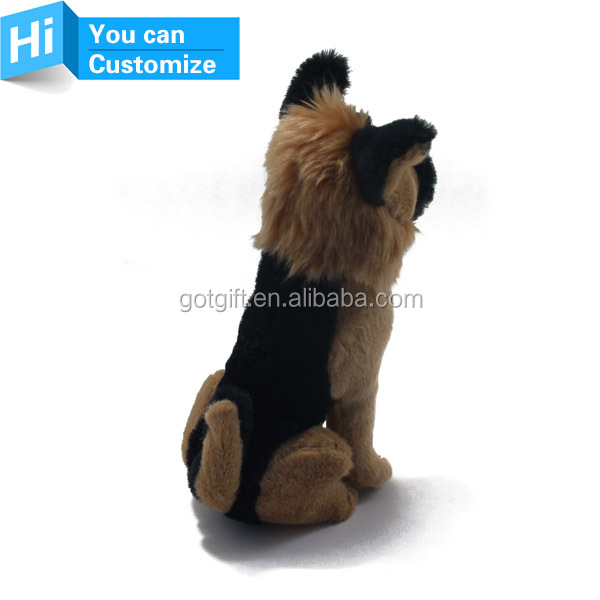 Custom animals stuffed german shepherd dog plush toy for sale