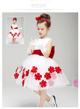 Kids Girls Toddler Baby Princess Dress Bow Flower Party Tutu Sleeveless Dresses