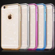 New Case for iPhone 6 Soft Chrome TPU Case Glitter Back Cover