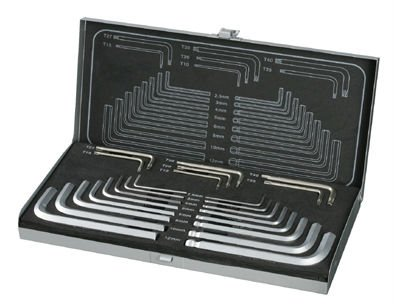 23PCS HEX KEY & STAR KEY SET (METAL BOX)