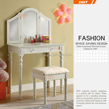 Vanity table mirror white finshed indoor furniture