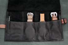 Leather Travel Watch Roll Case