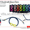 Braided Bracelet With Glasses Charm