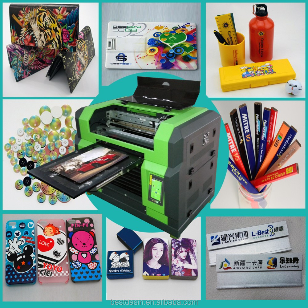 led uv printer a2 wax pen color label printer and cutter