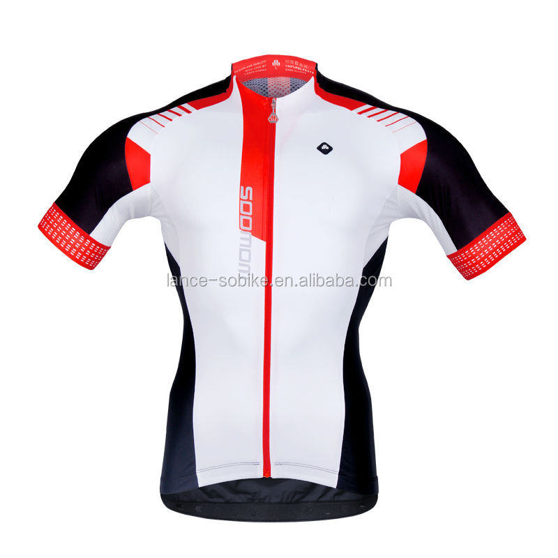 Sublimation printing cycling short sleeve jersey for ciclismo