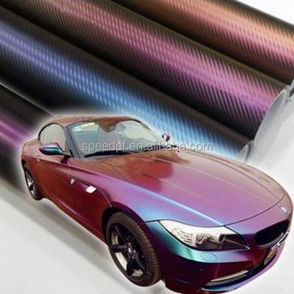 Premium quality 1.52*30M / roll color changed car body wrap chameleon film
