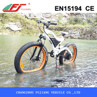Strong fat tire electric chopper bike