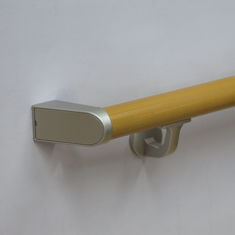 Wall mounted resin coated hopital handrail/ corridor handrail/ grab bar
