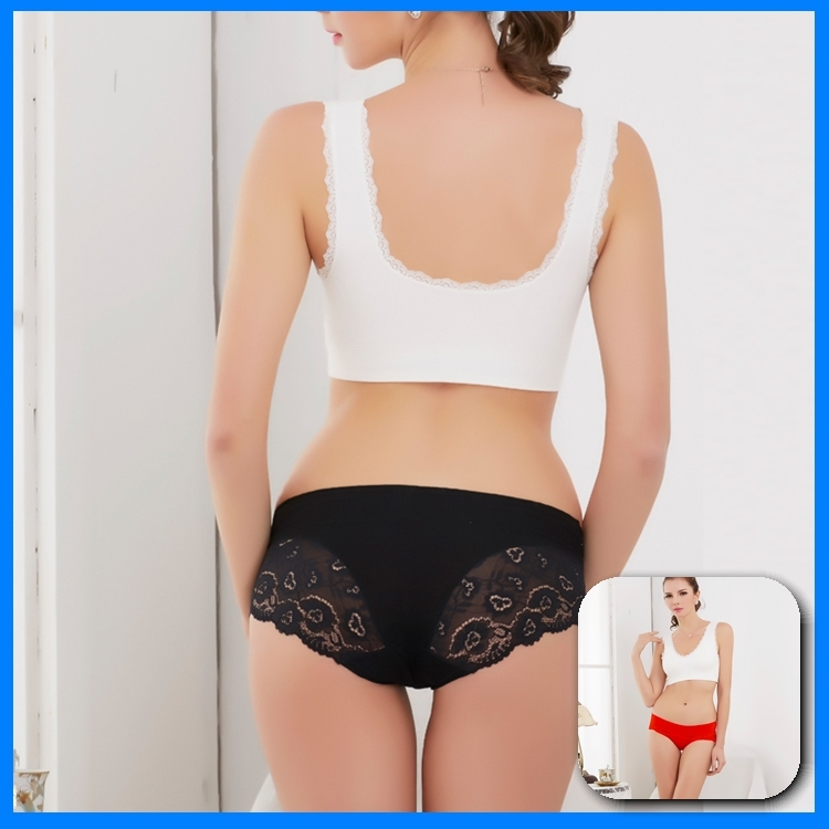 Payment Protection Nude Women Panties Modal Lace Seamless Underwear Wholesale