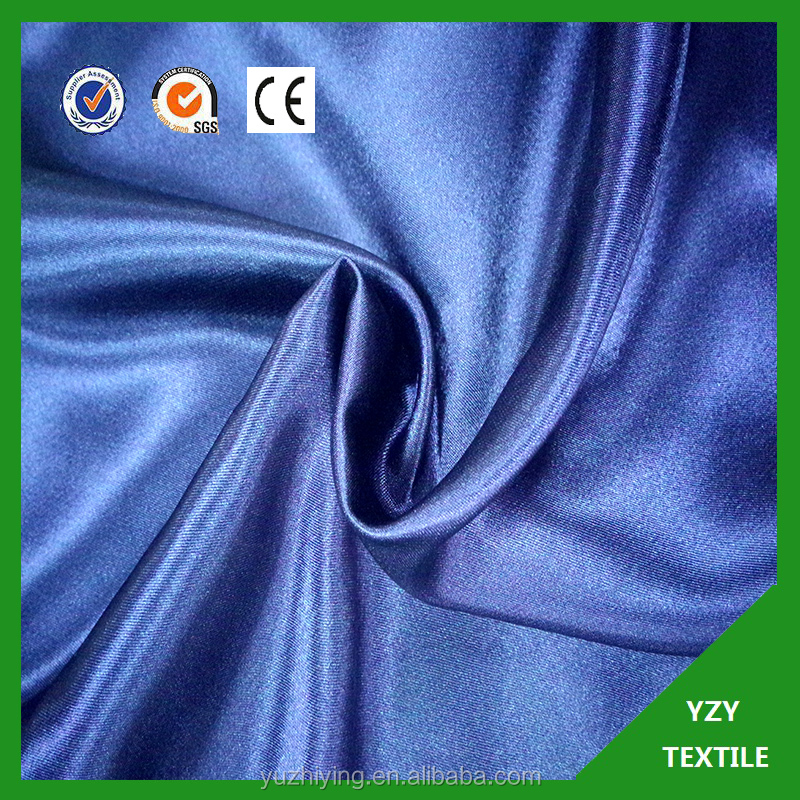 woven polyester satin fabric yarn dyed satin lining for chair covers