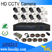 hot selling indoor/outdoor cctv camera security system ahd dvr with 1080P IR AHD cameras and 16ch DVR for home security