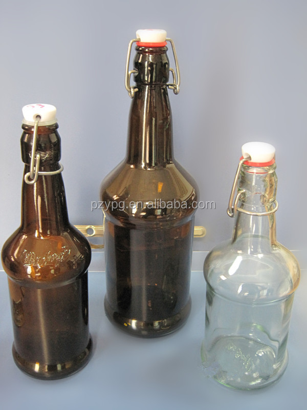 Stubby Beer Amber and Clear Bottle Closure silicone rubber