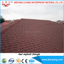 cheap price red asphalt roofing shingle for metal roof