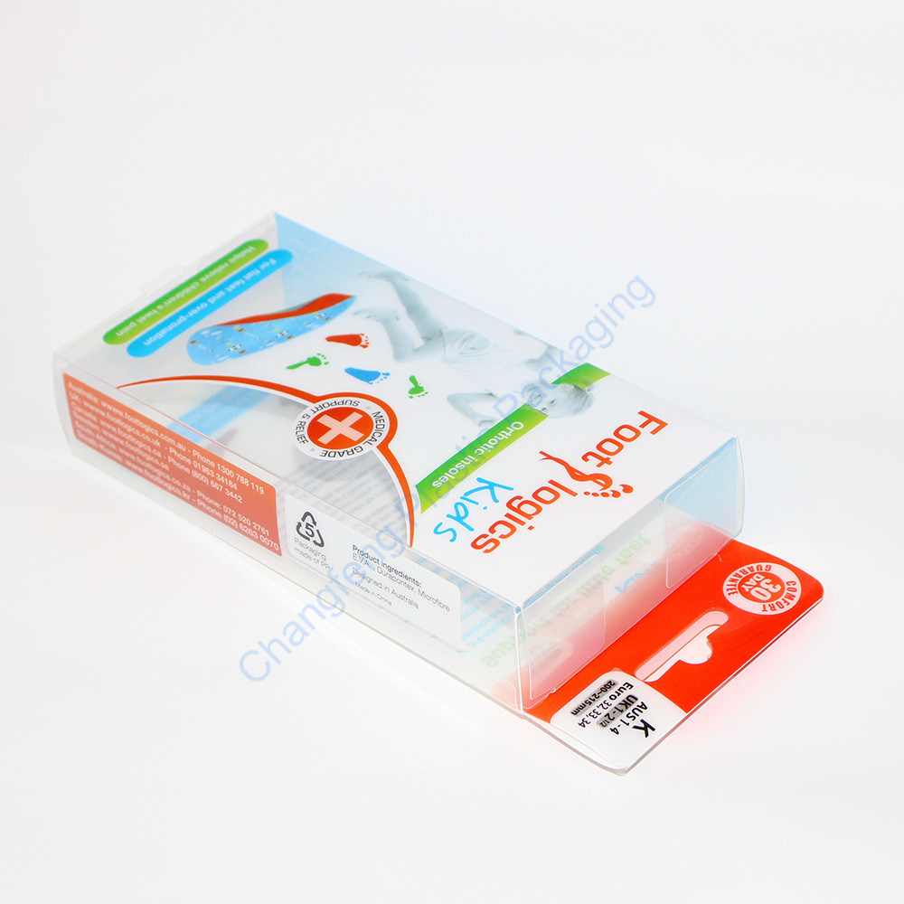 Customized Printing Clear Insole Packaging Box