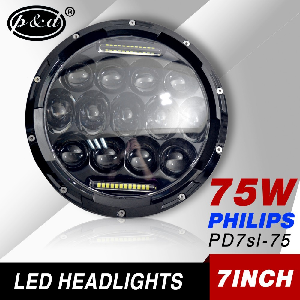 7 inch LED light bulb headlight motorcycle projector for Jeep Wrangler CJ TJ JK