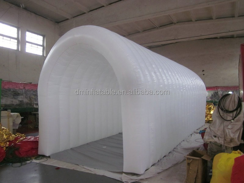 customized inflatable entrance tunnel, white inflatable tunnel tent