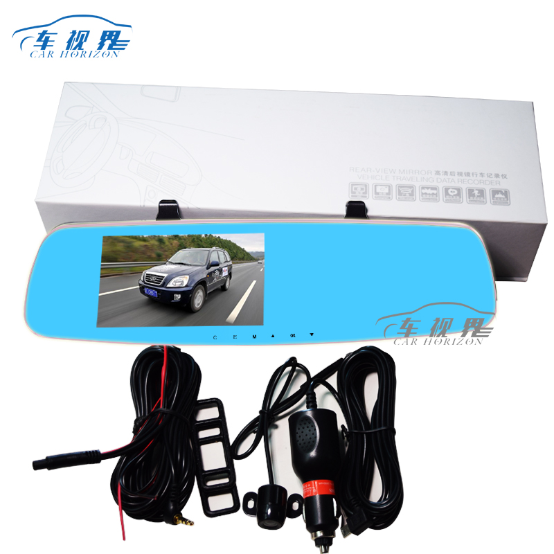 China supplier 5 inch Novatek 96655 rearview mirror car DVR video manual with dual recorder