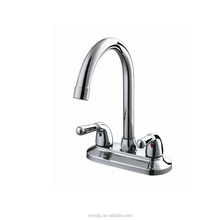 Cheap Price 2 handles Long Neck Brass Basin/Lavatory Faucet from China factory