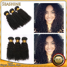 Hollywood Queen Hair Kinky Curly Afro Hair Soft Indian Virgin Hair 7A Quality