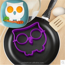 New Arrival Good Quality Cooking Silicone Egg Poacher Silicone Owl Fried Rings Egg Mold For Diy