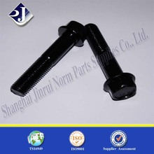 carbon steel black plated m5 hex flange bolts nut bolt manufacturing machinery price