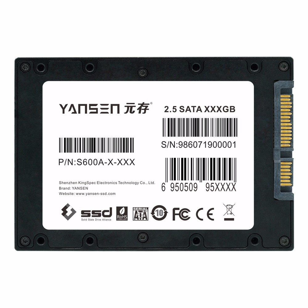 KingSpec YANSEN serial 32GB SSD hard drive for military and industrial rugged computer/devices